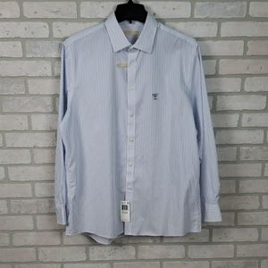 NWT Michael Michael Kors XL Dress Shirt Blue White